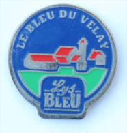 Pins LYS BLEU - Le Bleu Du Velay - Le Logo - Village - Fromage - D1286 - Alimentazione