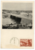 1952 - AOF - CARTE MAXIMUM SOUDAN FRANCAIS - Brieven En Documenten