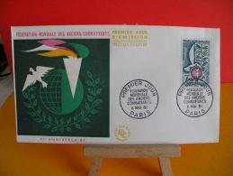 FDC - Fédération Mondiale Des Anciens Combattants - Paris 6.5.1961 - 1er Jour - Cote 3,50 € - 1960-1969