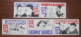 USA. 1991 . Comedians. MNH Full Set Of 5 - Neufs