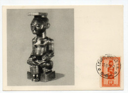 1952 - CONGO BELGE - CARTE MAXIMUM