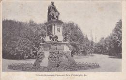 PHILADELPHIA, Pennsylvania, 1900-1910's; Lincoln Monument, Fairmount Park - Philadelphia