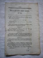 Bulletin Des Lois N°725  1840 Relatif à La Transformation Des Armes à Silex En Armes à Percussion 8 Pages - Décrets & Lois