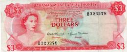 BAHAMAS : 3 $ 1968 (vf) - Bahamas