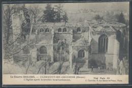 - CPA 55 - Clermont-en-Argonne, L'église Après Le Terrible Bombardement - Clermont En Argonne