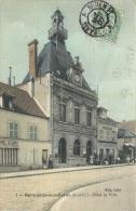 BONNIERES SUR SEINE HOTEL DE VILLE TOILEE COULEUR - Bonnieres Sur Seine