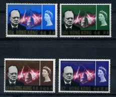 HONG  KONG   1966     Churchill  Commemoration   Set  Of  4    MH - Hong Kong (...-1997)