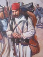Rare  Militaria CPA Chromo I.M.I 2203->Armée Française Troupes D'Afrique >ZOUAVES Guerre Européenne 14-15 éd Patriotique - Régiments