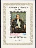 Atatürk 1981 Türkei Auf Zypern Block 2 ** 6€ Porträt Präsident Blocchi Hojas M/s History Bloc Man Sheet Bf Turkey/Cyprus - Chypre (Turquie)