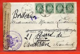 NORVEGE LETTRE CENSUREE DE 1915 POUR PARIS FRANCE - Norvège