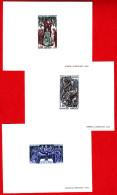 France - N°1537/1539 - Histoire De France.Saint-Louis - Hugues Capet - Philippe Auguste. Les 3 Epreuves De LUXE - Luxusentwürfe
