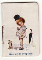Petit Calendrier Almanach 1925 Illustration Béatrice Mallet Fille Parapluie Henriette Gallais Coiffure Saint Brieuc - Tamaño Pequeño : 1921-40