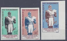 DAHOMEY - 1963 - N° 199 à 201 - NON DENTELES - XX - MNH - - Benin – Dahomey (1960-...)