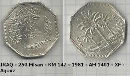 IRAQ - 250 Filsan - KM 147 - 1981 - AH 1401 - XF - Agouz - Irak