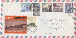 1973 Air Mail SPAIN Illus ADVERT COVER MOREY DISTILLERY Multi Stamps COVER To USA Alcohol Drink - Wines & Alcohols