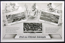 Ak Gruß Aus Kellenhusen, 1959, Meerjungfrau, Sirene, Mermaid, Nixe, Meermin, Wassermann, Angler, - Kellenhusen