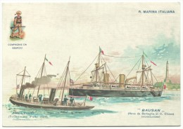 """2011, 117° Veronafil - """" Anniversario Istituzione Marina Militare - Torpediniera Avvoltoio - Nave Da Battaglia Bausan"""" - Betogingen"""