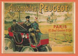 NOV230, Automobiles Peugeot, F. Nugeron ,Repro D'affiche, Paris, Circulée 1981 - Advertising