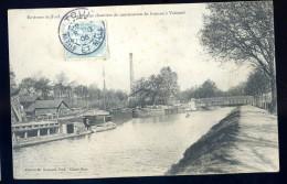 Cpa Du 54 Environs De Toul - Le Canal Et Les Chantiers De Construction à Valcourt  PY9 - Toul