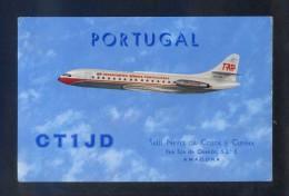 Portugal - TAP *Caravela VI-R* Postal Para Radio-aficionado. Dorso Tampón 1965. Circulada. - 1946-....: Moderne