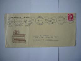 Marcophilie   :Annemasse (74 ):Lettre  Avec Flamme Publicitaire :Machine à Laver - Marcophilie (Lettres)