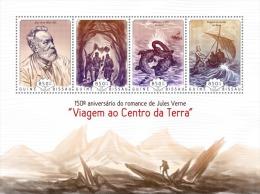 GUINEA BISSAU 2014 - J. Verne, Dinosaurs. Official Issue - Prehistorisch