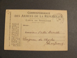 (3049) Correspondance Armee De La Republique 4/12/18 Vers Levignc De Seyches - Marcophilie (Lettres)