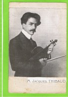 Jacques Thibaud (Bordeaux, 27 September 1880 - Franse Alpen, 1 September 1953) Was Een Franse Violist. - Muziek En Musicus