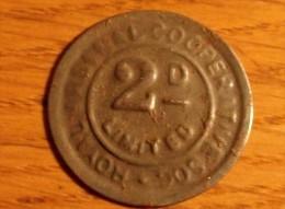 2 Pences Royal Arsenal Cooperative Soc Limited - Monétaires/De Nécessité