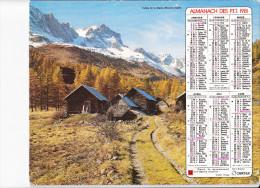 Almanach Des PTT 1981, Vallée De La Clarée (05), Chalets / La Meige (38) âne Et Son Bât, Paysan, OBERTHUR - Calendriers