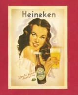 """Postcard   (PC56) , """" Heineken  """" - REPRO - 2 Scan - - Publicité"""
