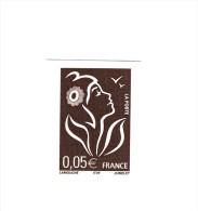 Lamouche 0.05 € Bistre Noir ITVF Type II YT 3754a Non Dentelé Accidentel Sans Phosphore . Superbe Et Rare , Voir Le Scan - Variedades: 2000-09 Nuevos