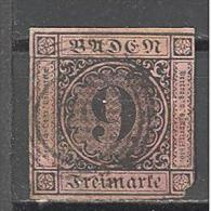 Bade:  Yvert N° 4°; Manque Coin; Used; Cote 30.00€; Voir Le Scan - Baden