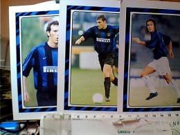 3 Pz TIPO CARD MONOGRAFIE  CALCIATORI INTER C.VIERI L.BLANC P. SOUSA  N1998 EO10779 - Calcio