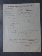 CAVAILLON Allumettes De L'ETAT A. Roux,  Facture Illustrée 1908, AUTOGRAPHE ; Ref 014 - 1900 – 1949