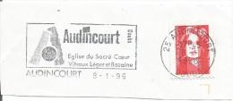 FRANCE. FRAGMENT POSTMARK. AUNDINCOURT. FLAMME - Marcofilia (sobres)