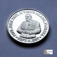 1 Onza De Plata - Visita De Juan Pablo II A Miami - 1987 - Etats-Unis
