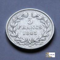 Francia - 5 Francos - 1843 - J. 5 Francs