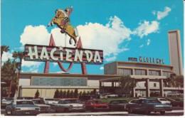 Las Vegas Nevada, Hacienda Hotel, Ford Mustang Auto, c1960s Vintage Postcard