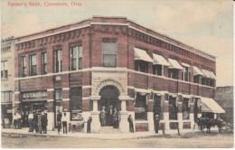 Claremore Oklahoma, Farmer's Bank Building, Architecture, Street Scene, C1900s Vintage Postcard - Estados Unidos