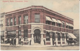 Claremore Oklahoma, Farmer's Bank Building, Architecture, Street Scene, C1900s Vintage Postcard - United States