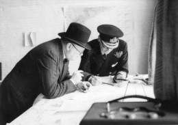 Postcard - Prime Minister Winston Churchill & Vice Admiral Sir Bertram Ramsey. KA-17024 - People