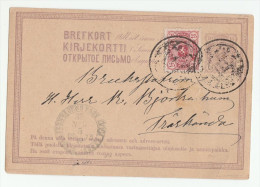 1875 FINLAND 25p Stamps On UPRATED 10p POSTAL STATIONERY CARD  Heraldic Lion Cover - Cartas