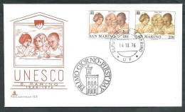 1976 SAN MARINO FDC CAPITOLIUM UNESCO NO TIMBRO ARRIVO - RD15 - FDC