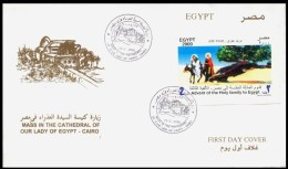 Egypt 2000 First Day Cover - FDC NEW MILLENNIUM / VIRGIN MARY CHURCH IN CAIRO / HOLY FAMILY - Briefe U. Dokumente
