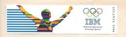 Autocollant IBM Sponsor Des Jeux Olympiques D´Atlanta 1996 - Autocollants