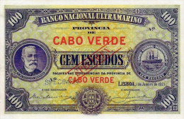 CAP VERT : 100 Escudos 1921.  Reproduction. - Otros