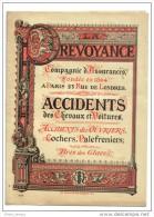 Pochette Porte Documents Assurances La Prévoyance Accidents Des Chevaux Et Voitures Cochers Palfreniers - Publicités