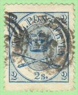 DEN SC #11  1865 Royal Emblems P13 CV $35.00 - 1864-04 (Christian IX)