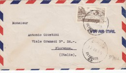 Lebanon Commercial Cover Sent 1955 To Florence,clear Round Cancellation-verso Arriving Date- Fine Condition-SKRILL PAY - Lebanon